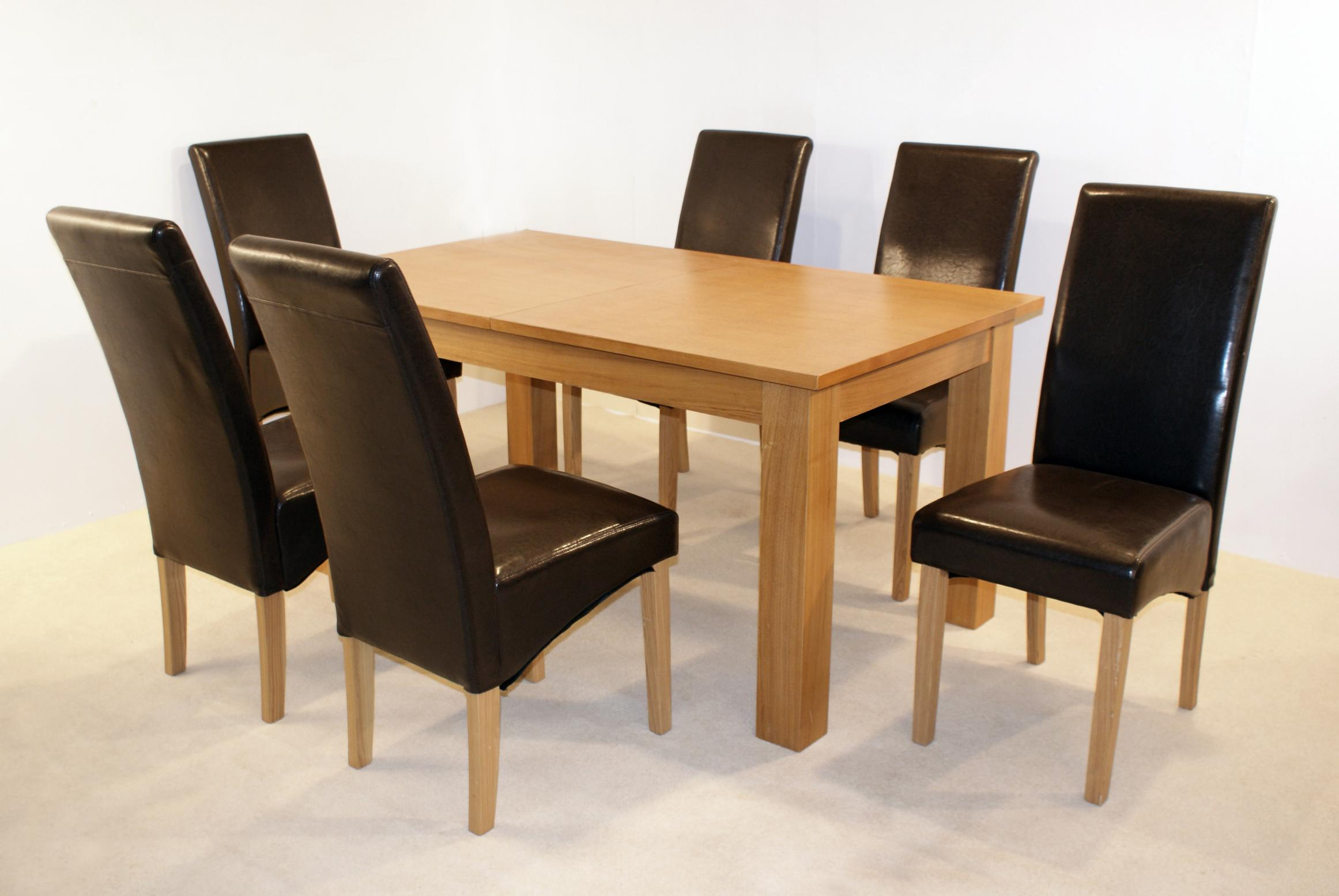Sherington extending table 6 chairs tbs discount furniture - Cdiscount table chaise ...
