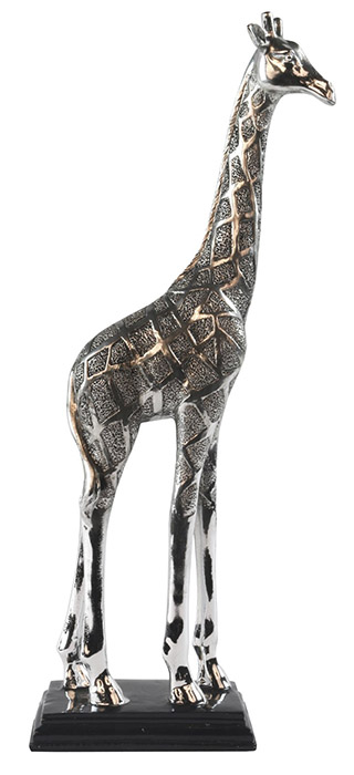 Resin Giraffe Medium Silver Finish