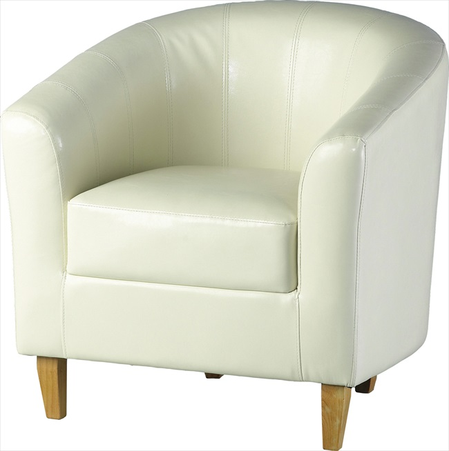 Tempo Tub Chairs in Black/Brown/Red or Cream pu