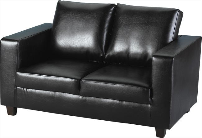 Tempo Two Seater Settee Brown or Black pu