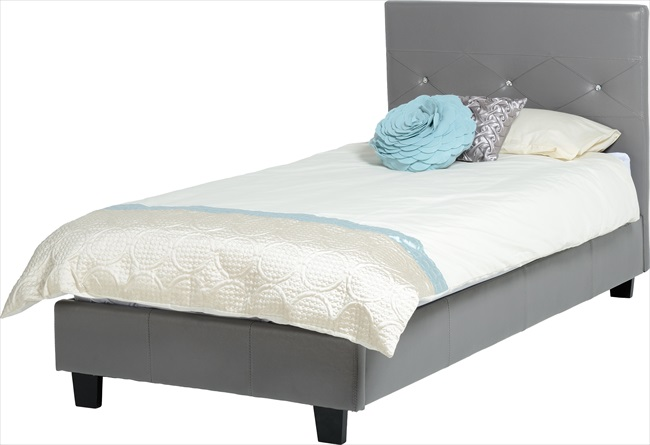Tiffany Jewel Bedsteads in Brown / Black or Grey pu From