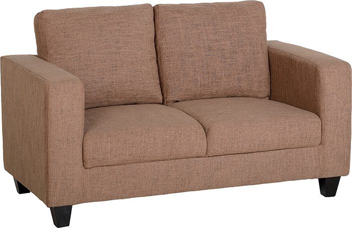 Tempo Two Seater Sofa-in-a-Box In Sand Fabric