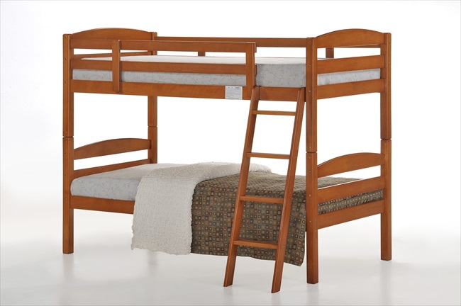 Tripoli Bunk Bed (Cherry Finish) - Click Image to Close