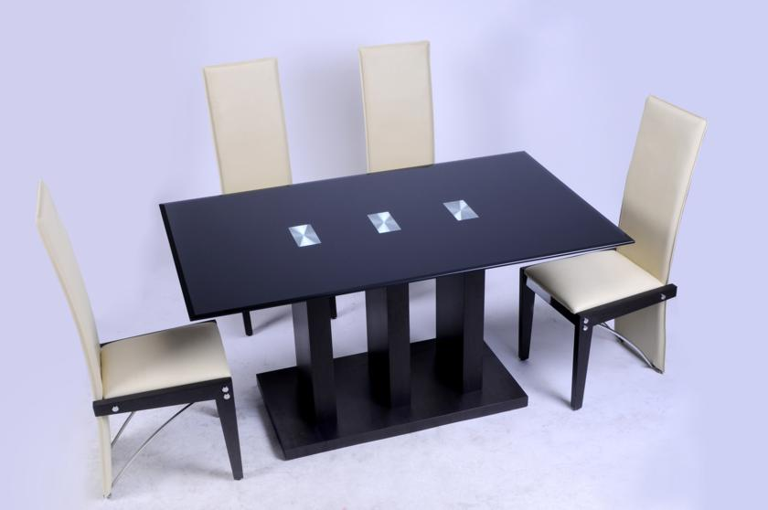 "Troy ""Black"" Table & 4 Chairs"