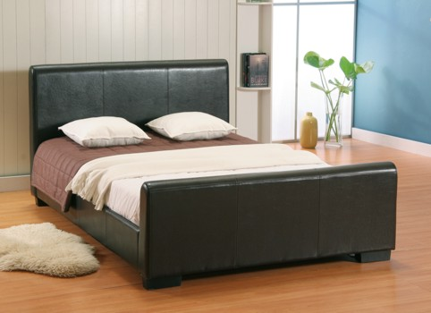Tuscany White/Brown or Black pvc Storage Bedsteads From