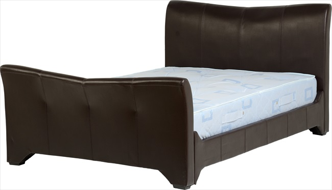 "Valley Epresso Brown pu 4'6"" Bedstead"