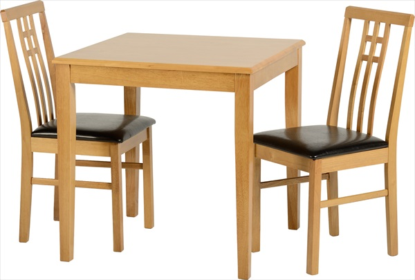 Vienna Medium Oak Table & 2 Chairs