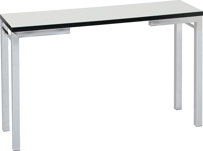 Valencia Mirrored Console Table With Black Trim