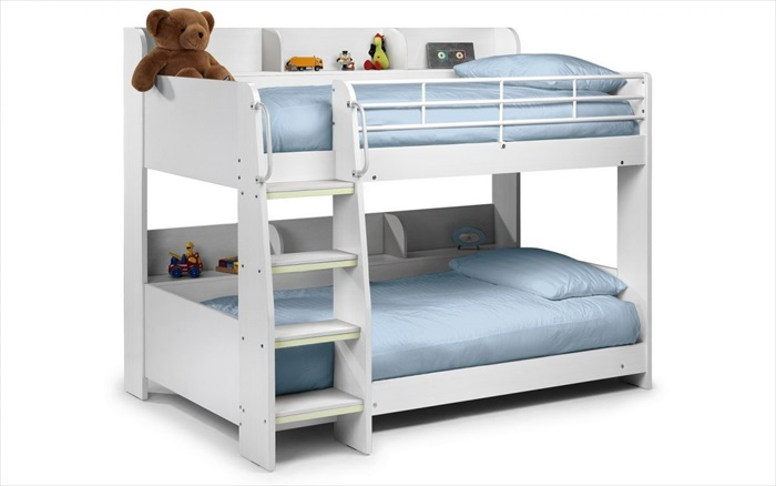 Domino Bunk Bed All White Single