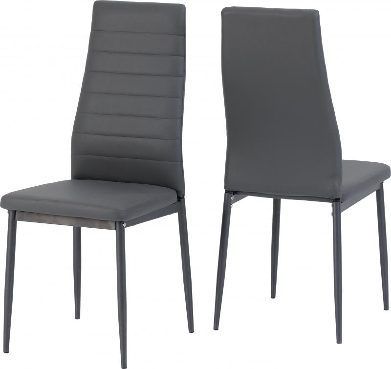 Abbey Grey Faux Leather Dining Chair