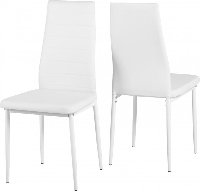 Abbey White Faux Leather Dining Chair