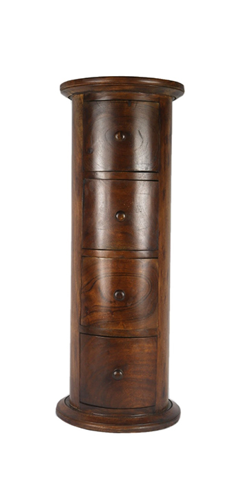 Acacia Lisbon Round 4 Drawer Cabinet