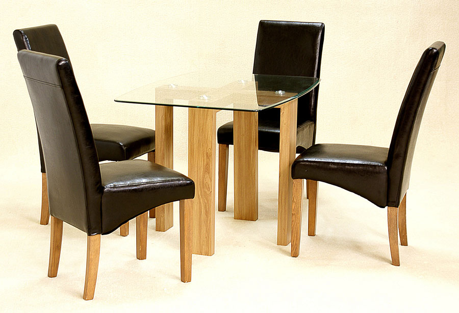Adina Cross Table & 4 Chairs