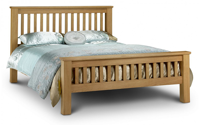 Amsterdam Oak Bed High Foot End King - Click Image to Close