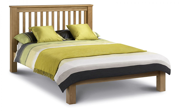 Amsterdam Oak Bed Low Foot End Double