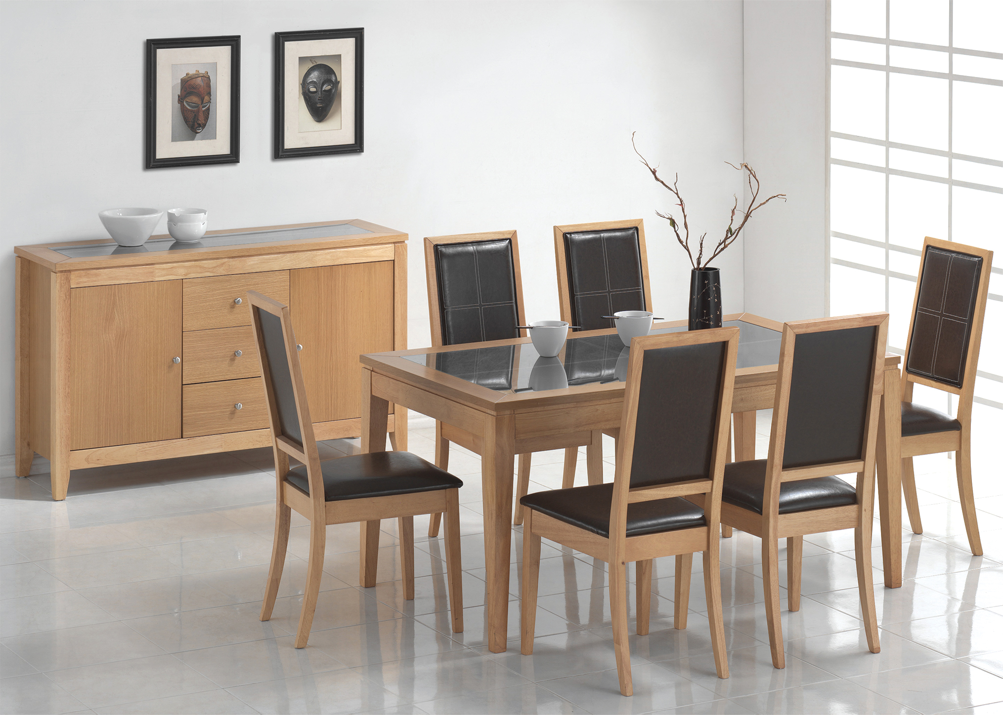 Arizona Oak Table & 6 Chairs