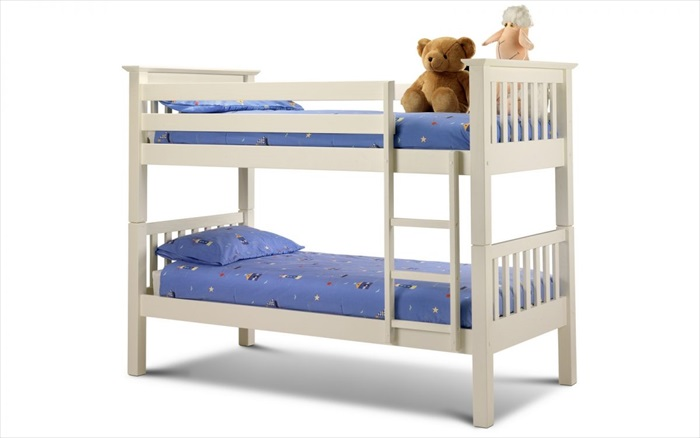 Barcelona Bunk Bed Stone White Single