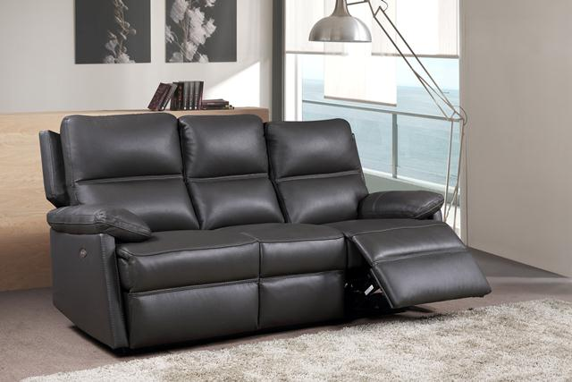 Bailey Leather 3 Seater Sofa Fixed