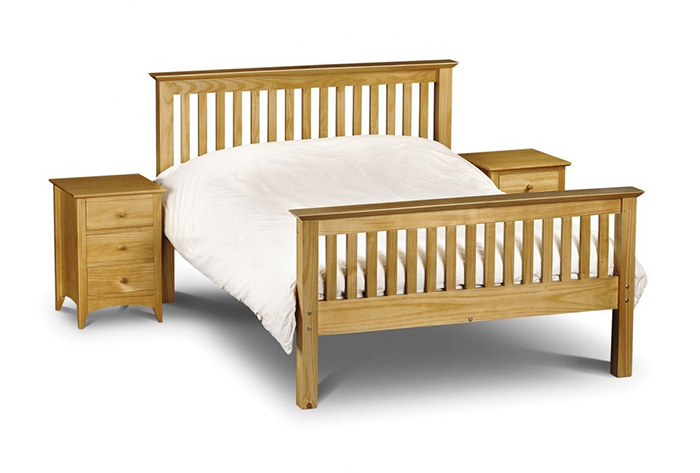 Barcelona Bed High Foot End Pine Double