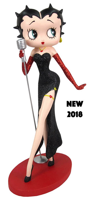 Betty Boop Classic Singer Black Glitter Dress