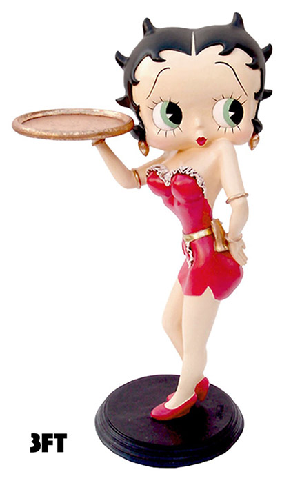 Betty Boop Red Waitress Display Figure