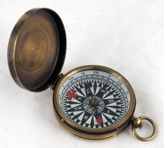 SMALL BLACK DIAL COMPASS - Click Image to Close
