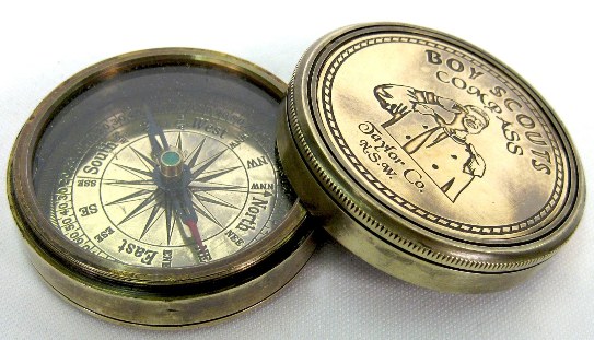 BOYS SCOUTS BRASS COMPASS (REPRO)