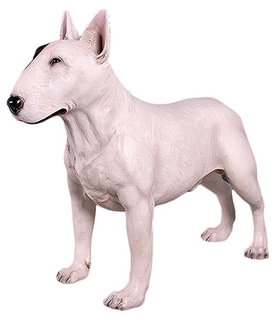 Resin Bull Terrier White