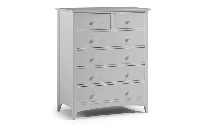 Cameo 4+2 Drawer Chest Dove Grey