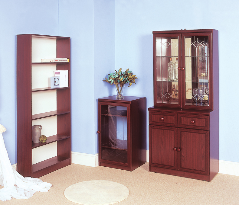Capri Range of Glass Door China Cabinet / Bookcases From