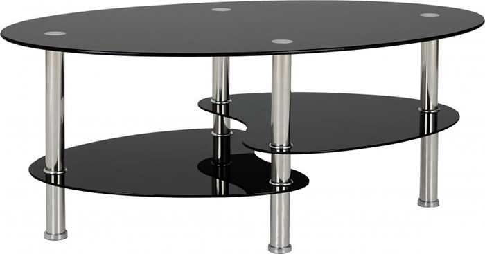 Cara Coffee Table in Black Glass