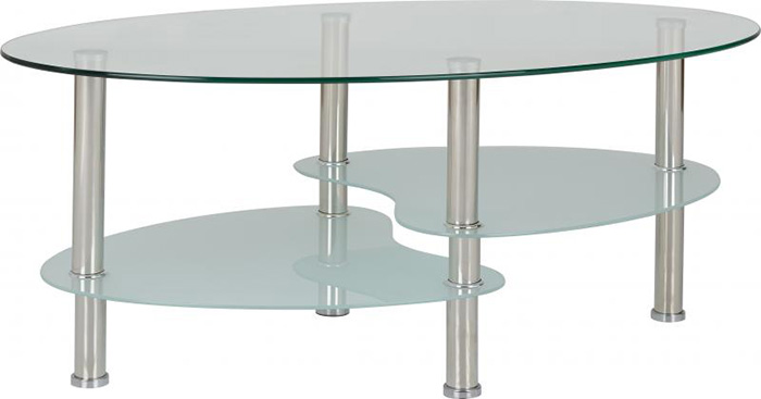 Cara Coffee Table in Clear Glass
