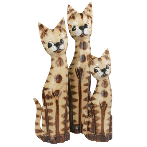 Tall Cats Wood Carving Range