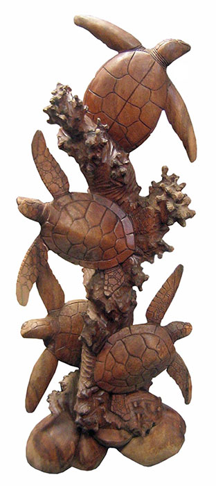 Turtle Statue Wood Carving Range