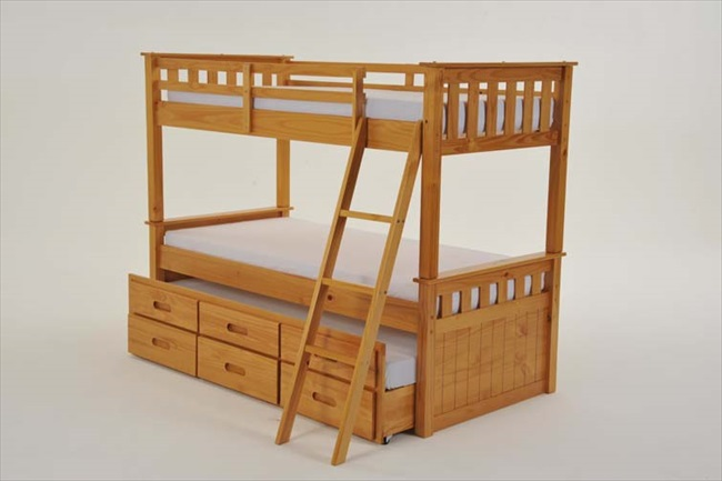 Captains Pine Bunk with Guest & Storage