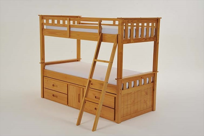 Captains Pine Bunk with 4 Drawers & Storage