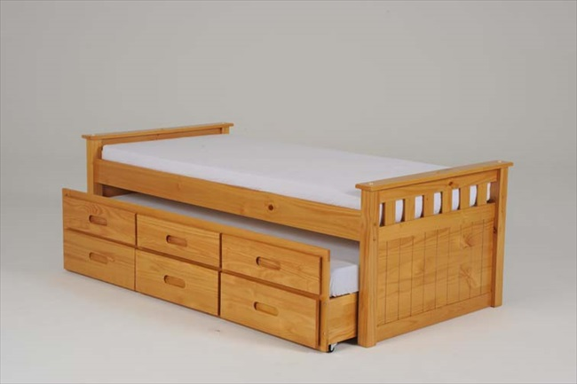 Captains Single Bed with Guest & Storage