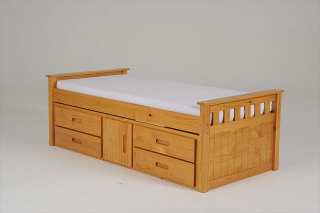 Captains single bed with 4 drawers storage for Single bed with drawers and mattress