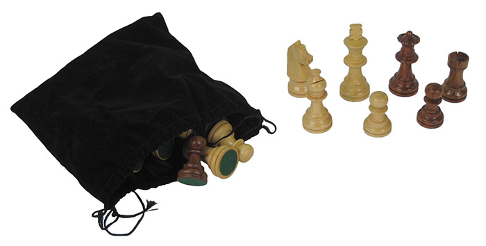 Chess Pieces In Bag