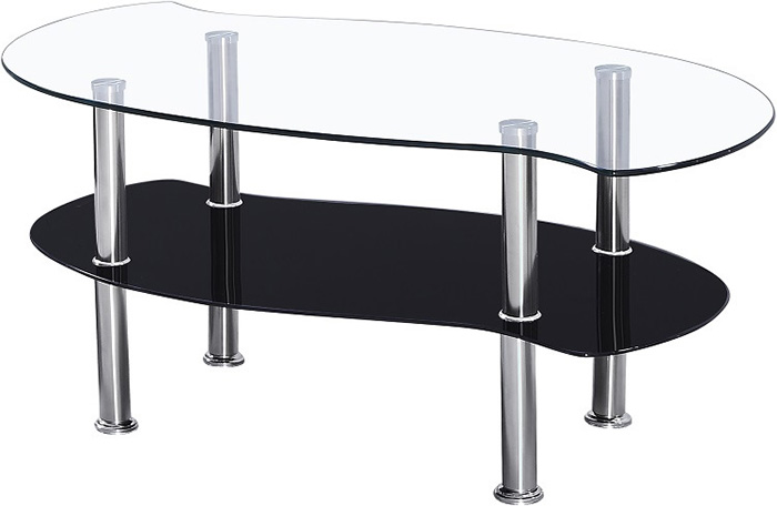 Colby Coffee Table in Clear Glass