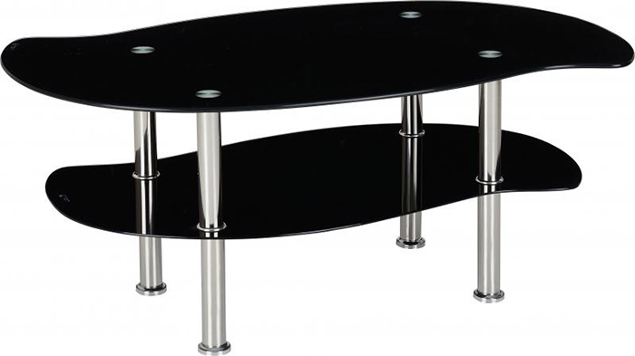 Colby Coffee Table in Black Glass