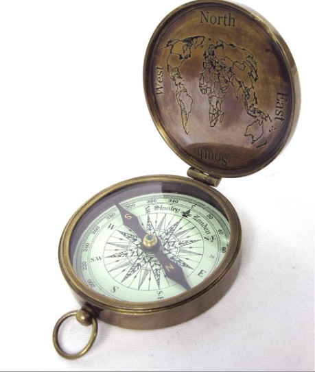 Brass Compass With Lid