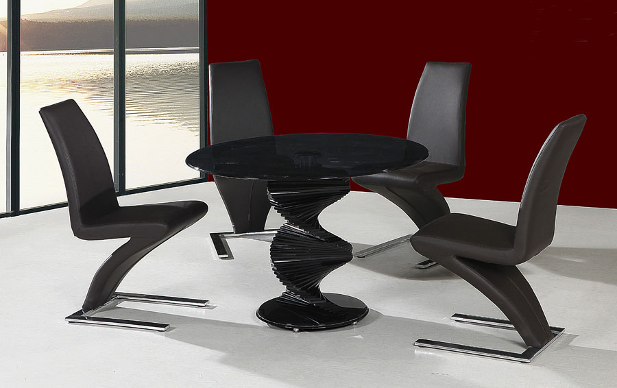 Cordoba Black Glass Table & 4 Chairs