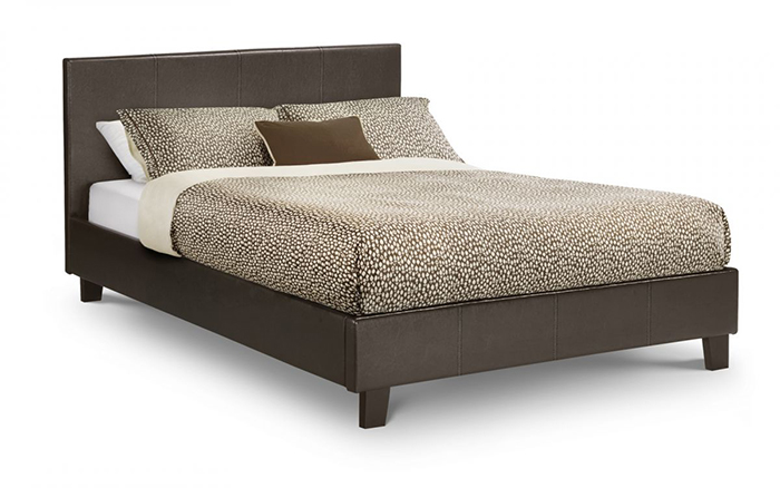 Cosmo Faux Leather Bed Double