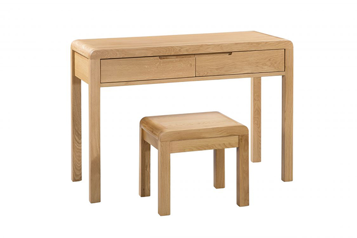 Curve 2 Drawer Dressing Table & Stool Set