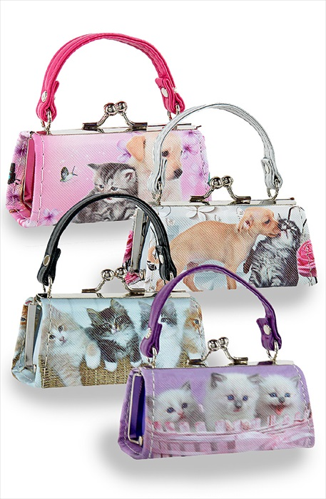 Cute Kittens and Puppies Lipstick Case Assorted Colours