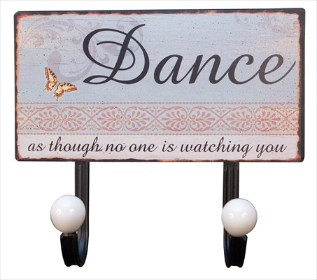 """Dance"" 2 hooks Metal Wall Hanger"