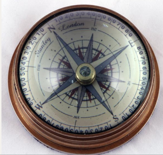 DOMED LENS COMPASS