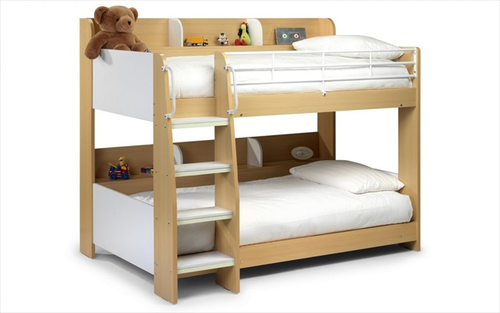 Domino Bunk Bed Maple & White Single