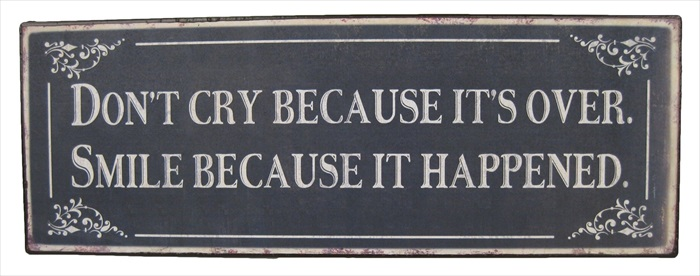 """Don't Cry"" Metal Plaque"